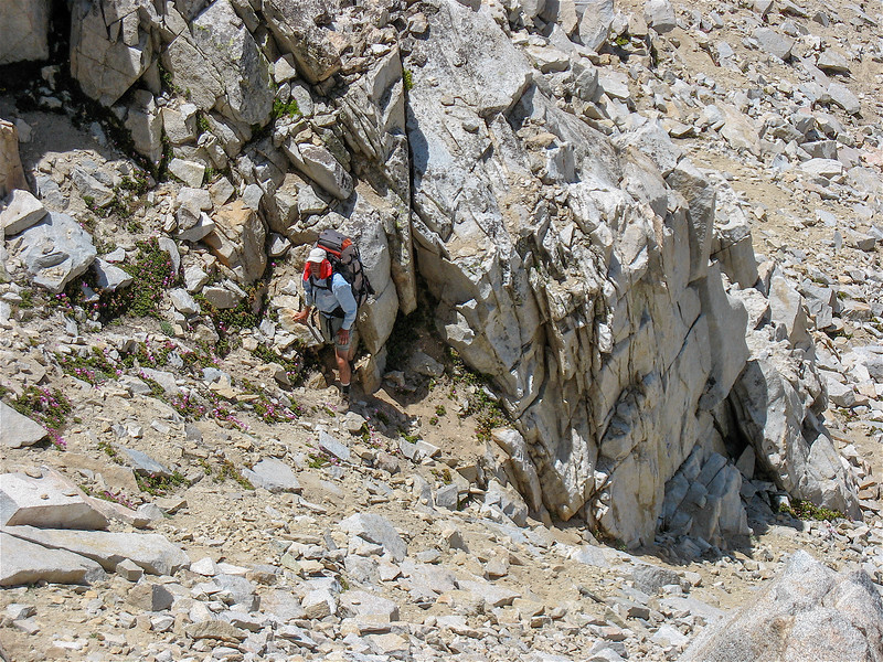 John is climbing to Vennacher Col at 12,320 feet.  This is a class 3 climb.