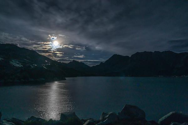 Moon on Wanda Lake