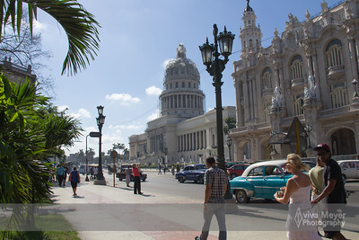 View of El Capitolio and Gran Teatro de La Habana