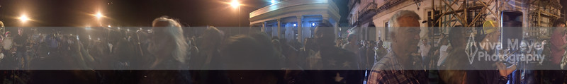 Panorama during PHJB concert outside El Lucero