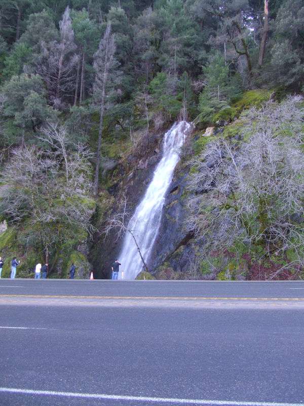 Bridalveil Falls off the side of the road (Hwy 50)