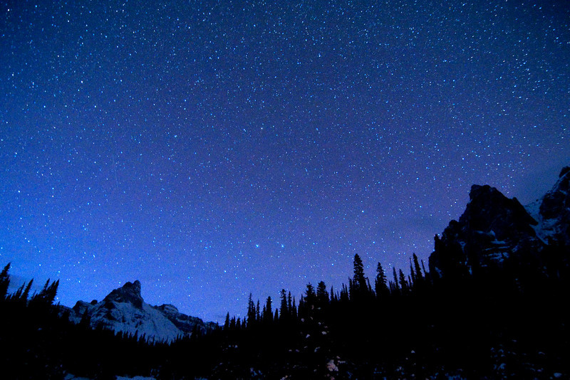 Cathedral Mountain and Stars