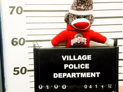 """""""Innocent until proven guilty! I had nothing to do with kidnapping their mascot."""""""