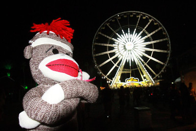 Night time at Coachella.