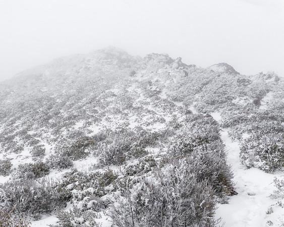 Whiteout on Garnet Peak