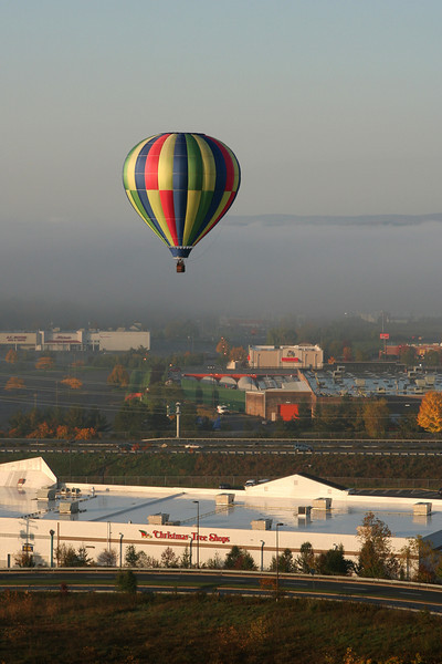 2012-10-20. Hot Air Balloon ride. Lower Hudson Valley, NY.