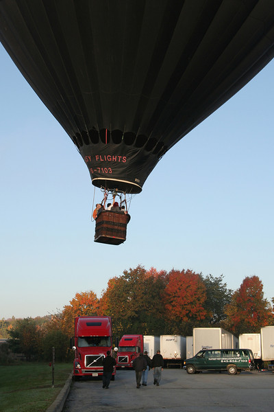 2012-10-20. Hot Air Balloon ride. Lower Hudson Valley, NY. (Insane landing. I still can't believe he put the balloon down in such a tight spot.)