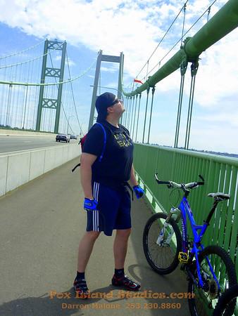 Tacoma Narrows Bridge Biking with Terry