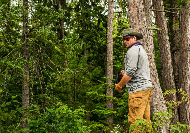Matt checking out camp