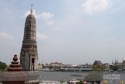 View from Wat Arun (of the Grand Palace on the other side of theh river)