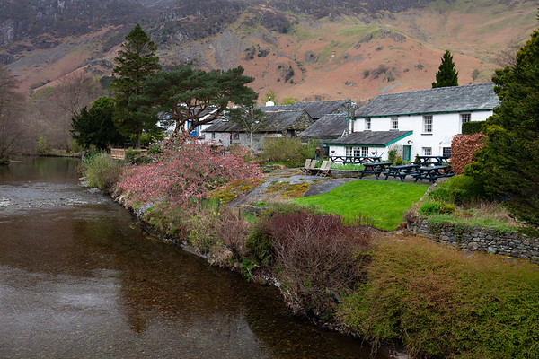 The village of Grange beside the River Derwent in the Borrowdale Valley.