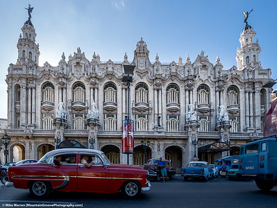 Havana theatre, and old cars!