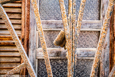 Abstract of old windows and bars!
