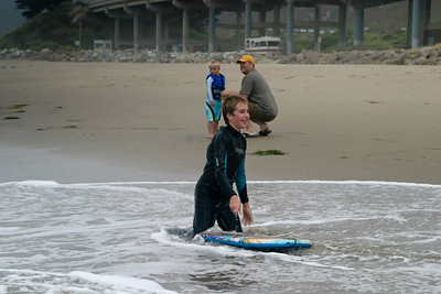 Boogie boarding in Ventura