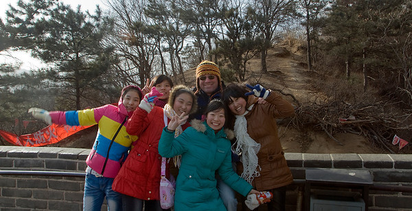 I was a Rock Star in China!! Tall, blond and fair skinned, I did NOT blend!! And on at least a dozen occasions girls sought me out to have their picture taken with me! This was on the Great Wall, and is one of my most favorite memories. I was just standing there, and all of a sudden was surrounded by these girls. Then I realized I was intentionally in the middle of their picture!