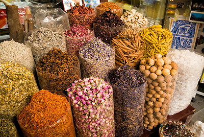 Dubai has a large spice market.  Here are just come of the spices available.