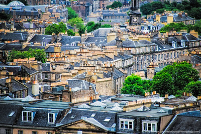 Edinburgh is an old city, having escaped the bombing of WWII.  Many of its structures date back to the 1600s, or older.