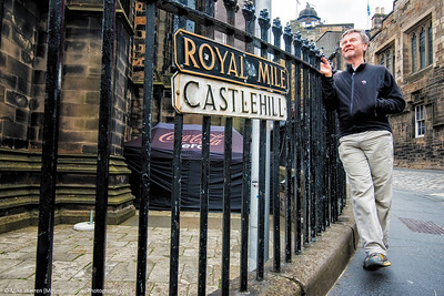 Tom, enjoying the Royal Mile.