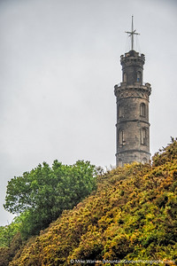The Nelson Monument was built in memory of Admiral Lord Nelson, who died at the Battle of Trafalgar in 1805.