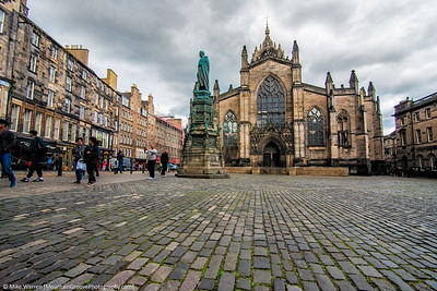 St Giles Cathedral, on the Edinburgh Royal Mile.