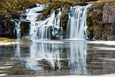 Waterfall outside Kirkjufell Mountain