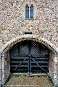 Historic Traitor's Gate into the Tower of London.  Through this gate, which originally led directly from the Thames, and now is on dry land, came many a rightfully and wrongfully accused prisoner!