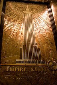 The nameplate in the lobby of the Empire State Building