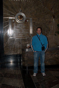 Todd in the Lobby of the Empire State Building.