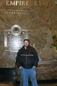 Bill in the Lobby of the Empire State Building.