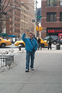 Todd showing his happiness to be back in the big apple.
