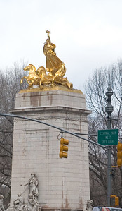 This is the statue on the South East corner of Central Park