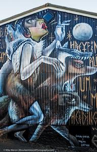 Full wall art work in Reykjavik