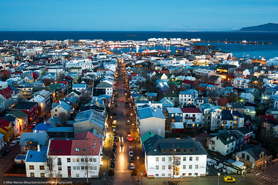Reykjavik from the top of Hallgrimskirkja Church