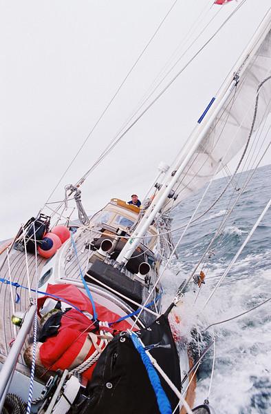 Sept. 2000 offshore 50 miles off the Washington coast on Gin Suni a 30' Baba