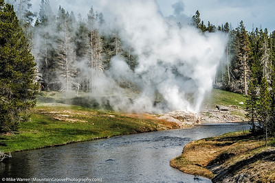 Riverside Geyser, erupts every few hours.  We were in the right place at the right time!