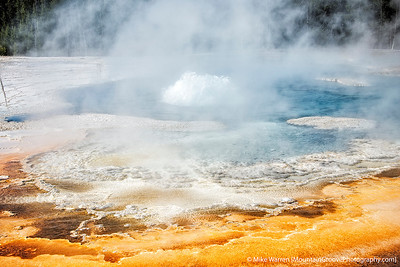 Solitary Geyser.  It erupts every 9 minutes or so, but only a couple of feet!