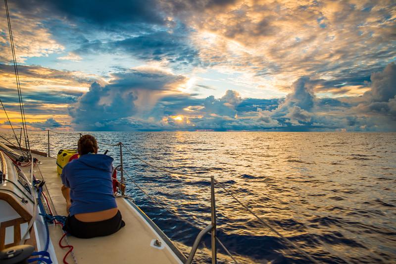 Sailboat Yoga Sunrise Pacific Ocean-1
