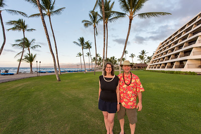 The two of us outside the Mauna Lani Hotel in Hawaii