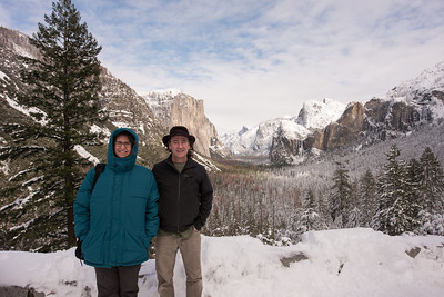 Yosemite visit between snow storms in 2017