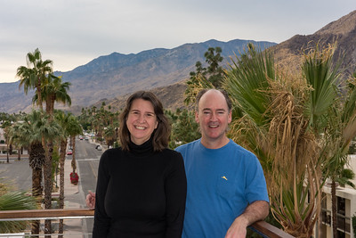 A view from the balcony of our hotel in Palm Springs.