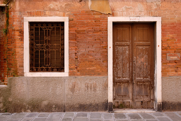 Weathered facade