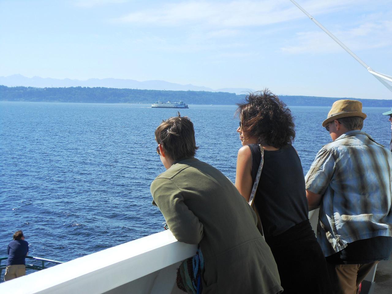 Ferry from Edmonds to Kingston (Kitsap Peninsula) w/Susan, Steven & Sabina