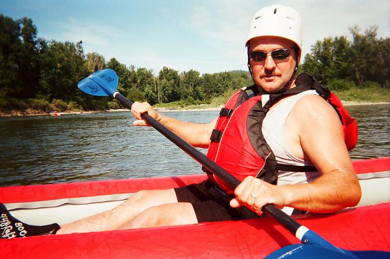 Dave & Darren get wet on Wenatchee River Rafting Leavenworth WA 8-15-2010