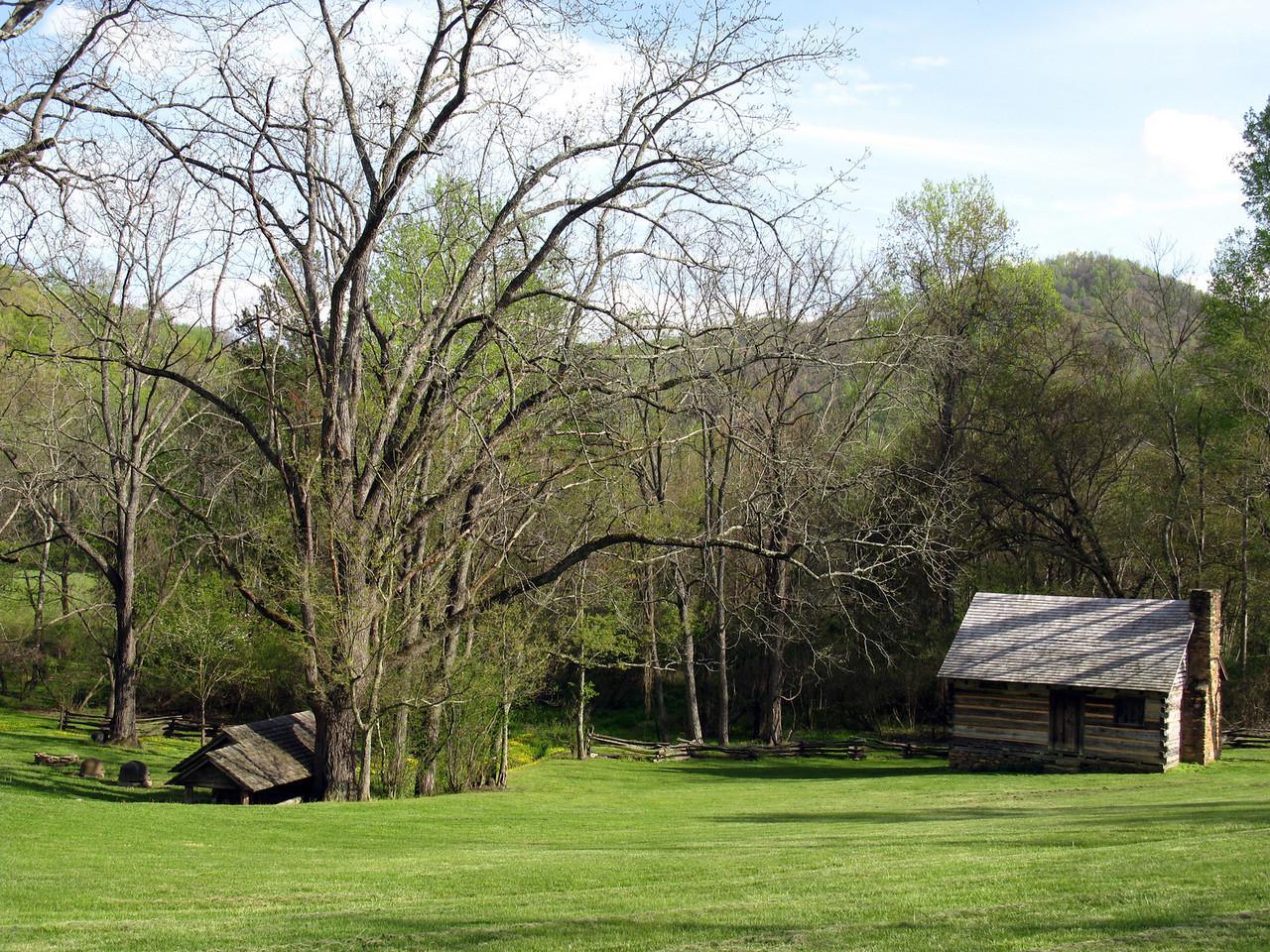 Zebulon Vance birthplace<br /> Weaverville, NC<br /> April 23, 2008