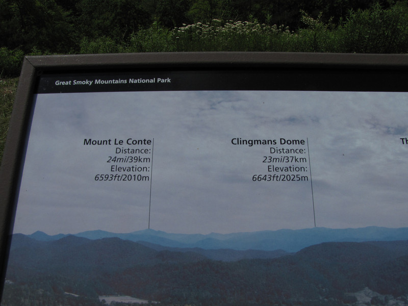 We went to Clingman's Dome on our return trip to Robbinsville.