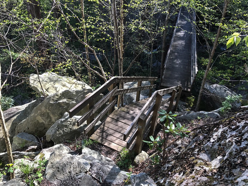 This bridge is below a Parkway bridge. It will be visible in pictures taken from the Parkway later in this album.
