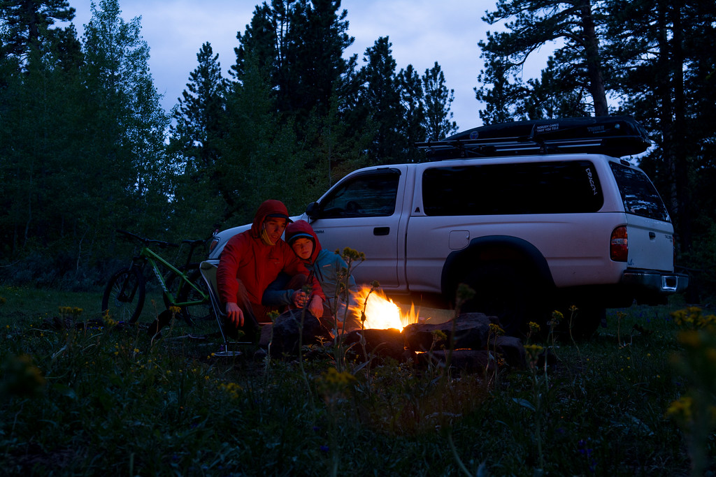 Our campfire among the aspens.