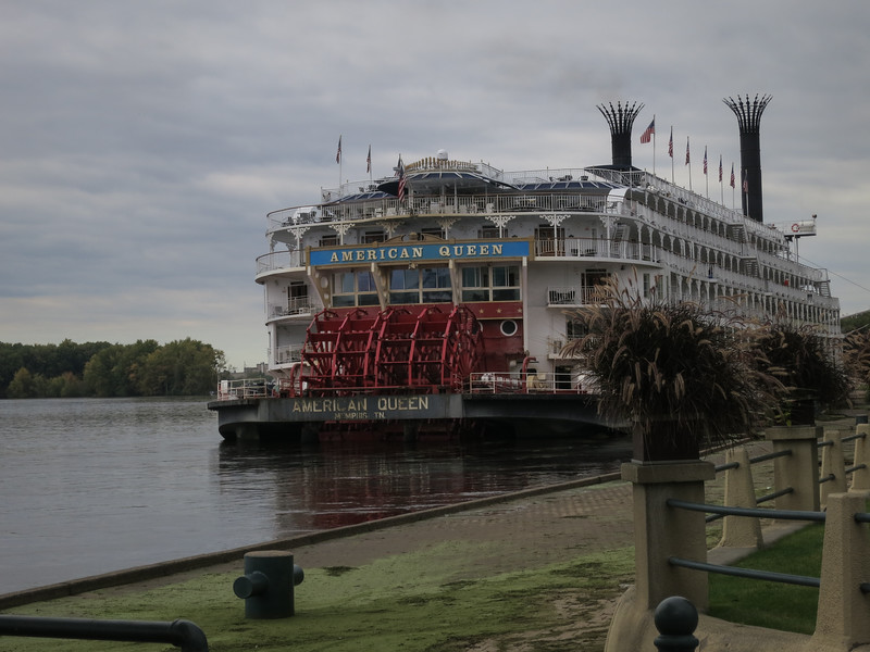 The American Queen was scheduled for a short stop in LaCrosse, but couldn't navigate downstream because the water was too high so spent the day, then turned around. The passengers weren't pleased that their tour was cut short.