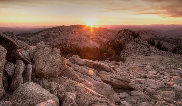 Sunset from Tuolomne Peak