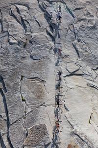 Ascending and Descending Half Dome